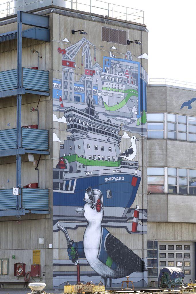Helsinki Shipyard Oy, muraali